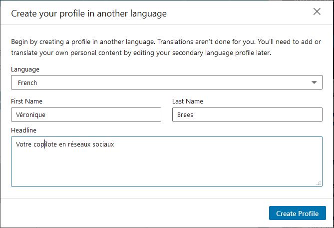 LinkedIn profiel meertalig invullen