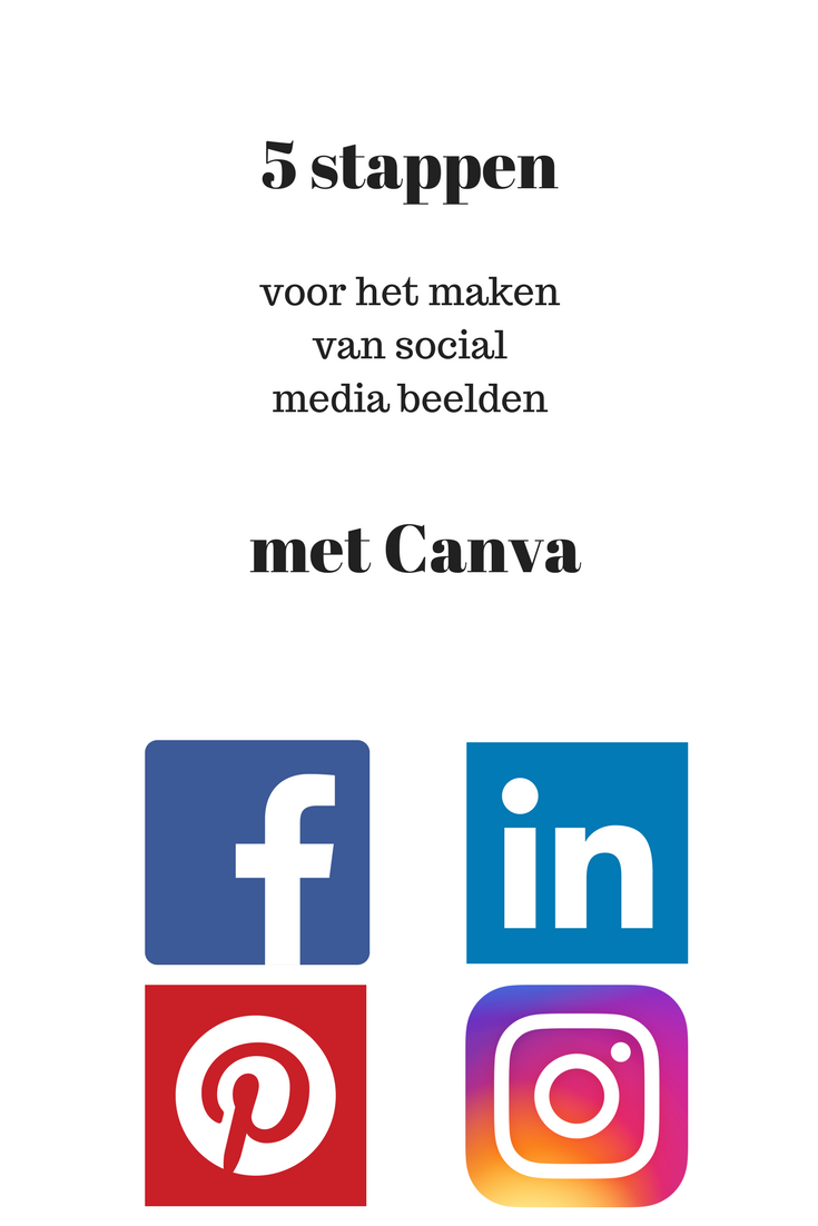 5 stappen social media Canva