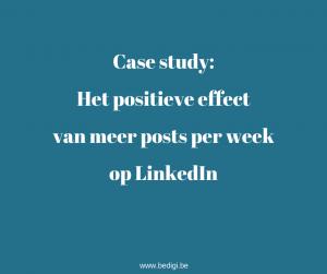 Het positieve effect van meer posts per week