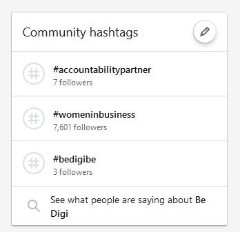 Reageren op posts via hashtags