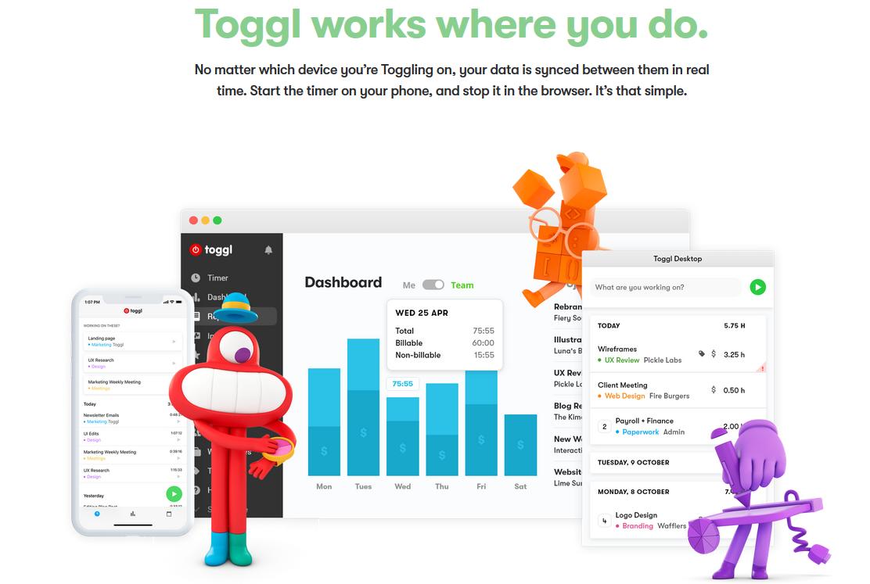 Volg je tijd met Toggl
